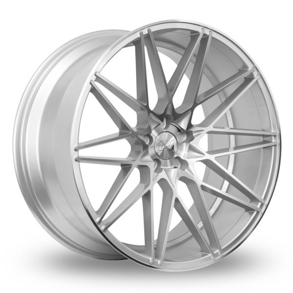 1AV ZX4 SILVER POLISHED ALLOY WHEELS