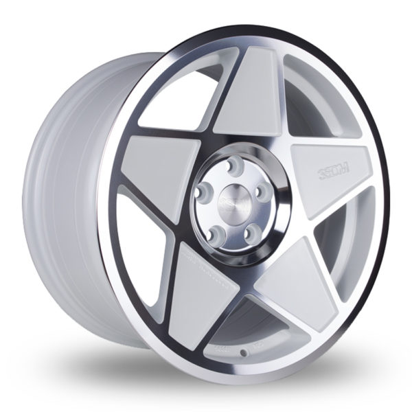 3SDM 0.05 White Polished ALLOY WHEELS