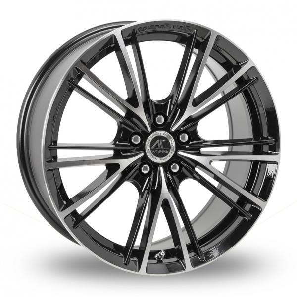 AC Wheels FF00 Black Polished ALLOY WHEELS