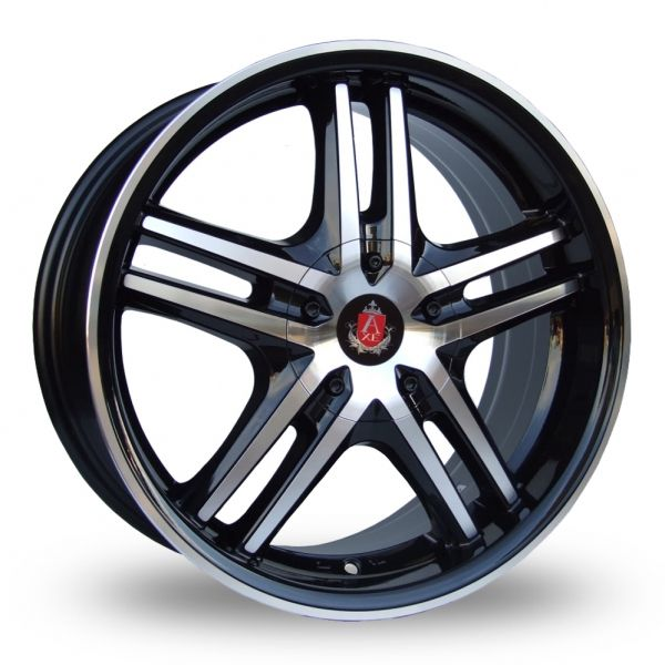 AXE EX5 BLACK POLISHED ALLOY WHEELS