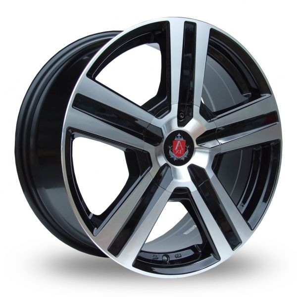 AXE EX6 BLACK POLISHED ALLOY WHEELS