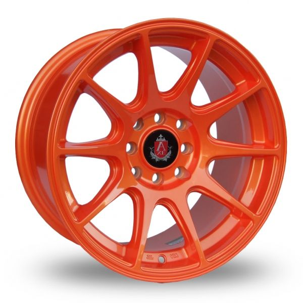 AXE EX8 ORANGE ALLOY WHEELS