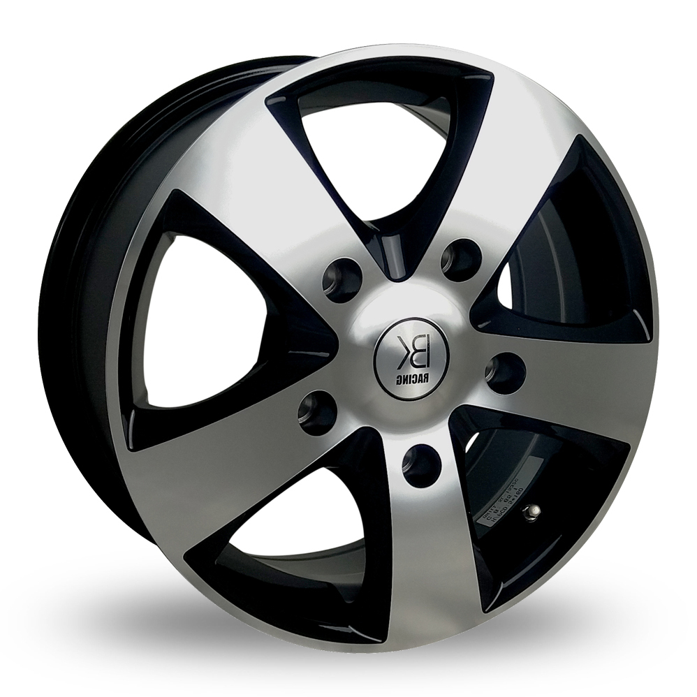 16″ BK Racing 341 Black Polished For Ford Transit Custom