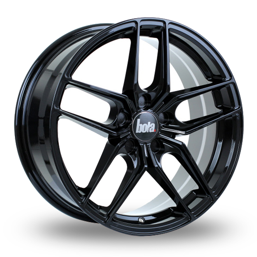 BOLA B11 GLOSS BLACK ALLOY WHEELS
