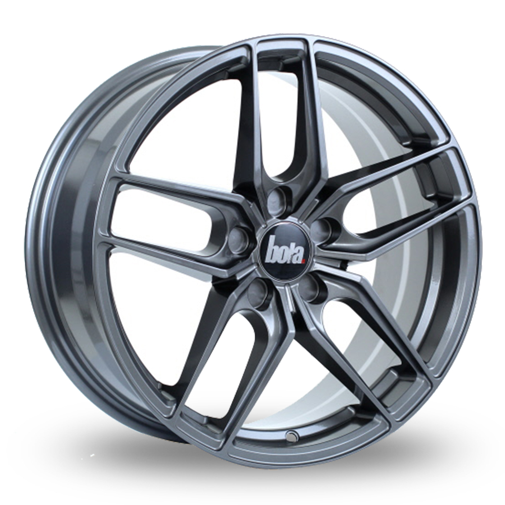 BOLA B11 GLOSS GUN METAL ALLOY WHEELS