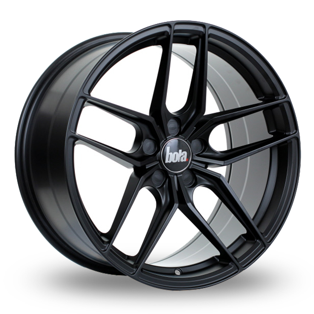 BOLA B11 MATT BLACK ALLOY WHEELS