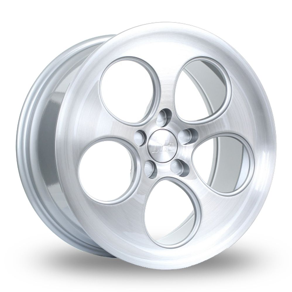 BOLA B5 SILVER BRUSHED FACE ALLOY WHEELS
