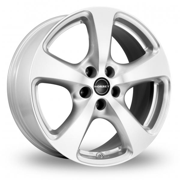 18″ Borbet CC Silver For Ford Transit Custom