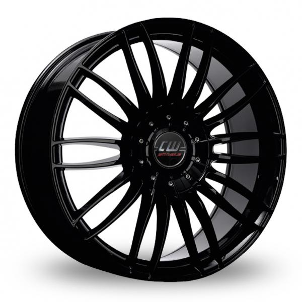 17″ Borbet CW3 Gloss Black For Ford Transit Custom