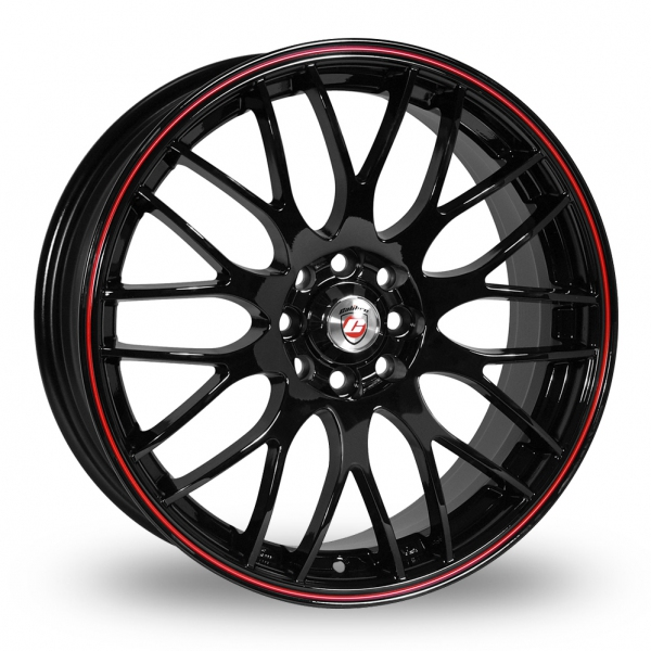 CALIBRE MOTION 2 BLACK AND RED ALLOY WHEELS