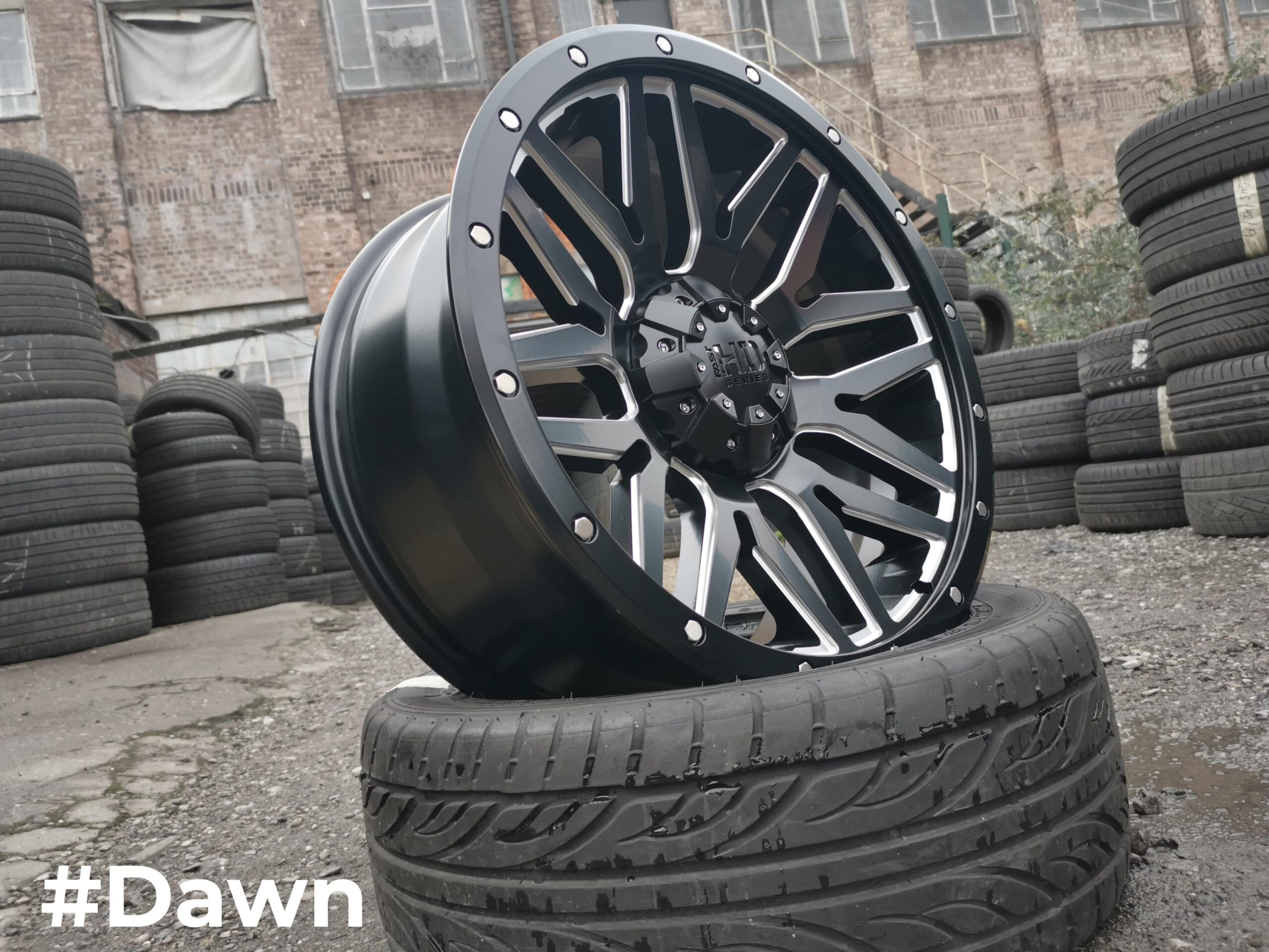 20″ DaVinci Dawn Satin Black/Polished – 6×139.7 Fitment
