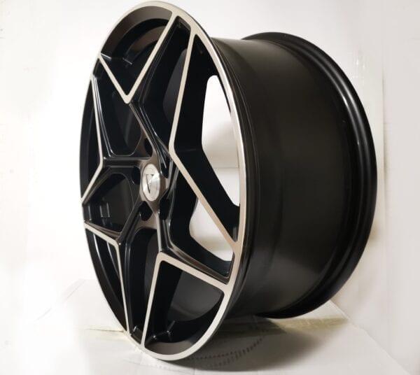 19″ DaVinci Storm Black Polished Alloy Wheels 5×112