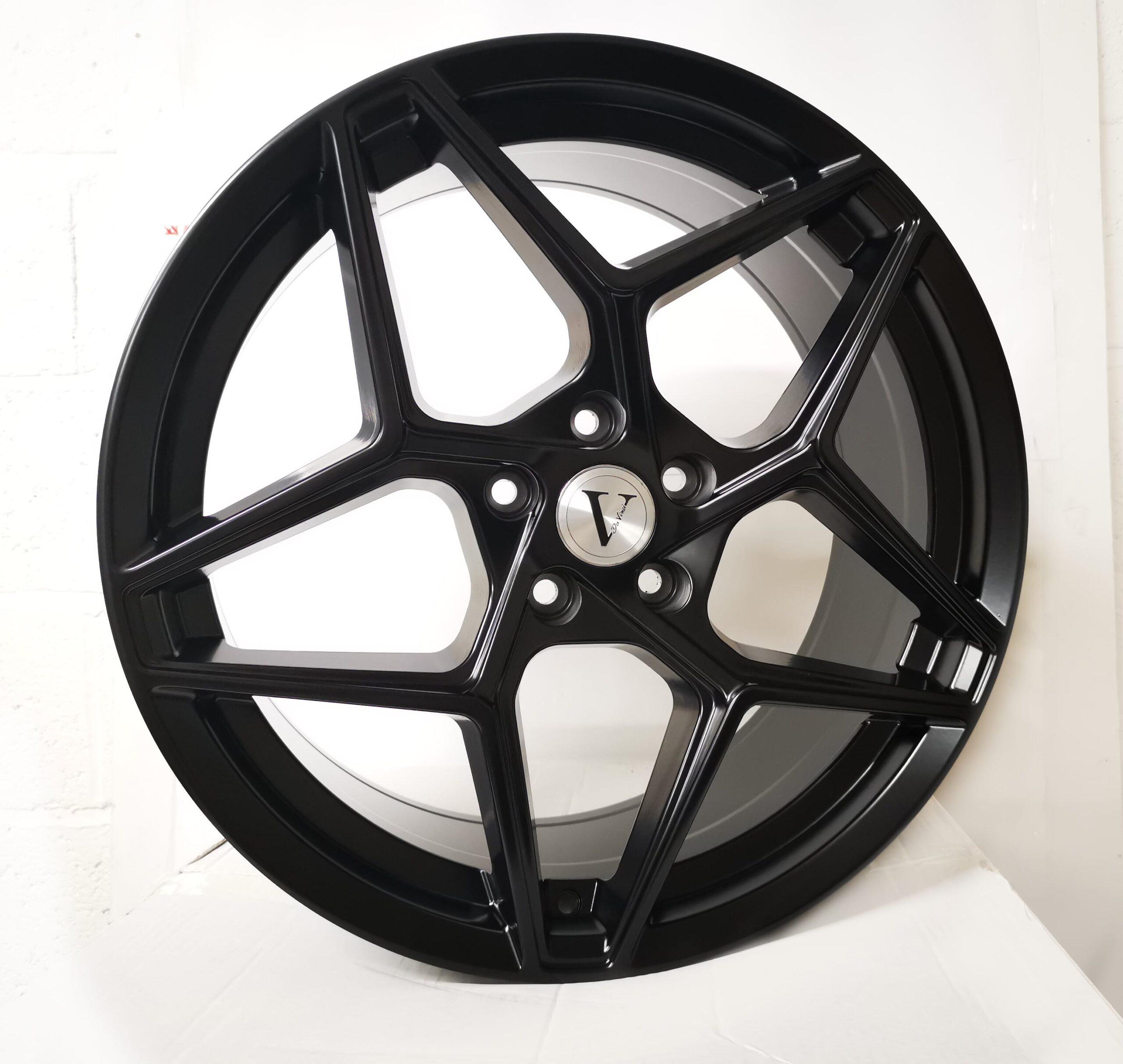19″ DaVinci Storm Satin Black Alloy Wheels 5×112