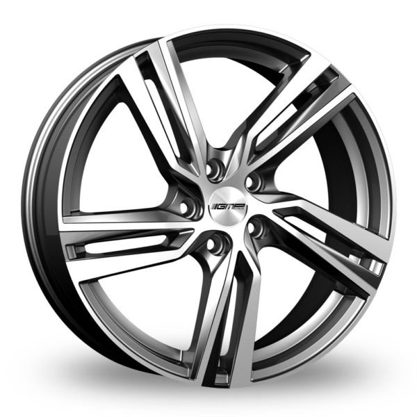 GMP ITALIA ARCAN ANTHRACITE POLISHED ALLOY WHEELS