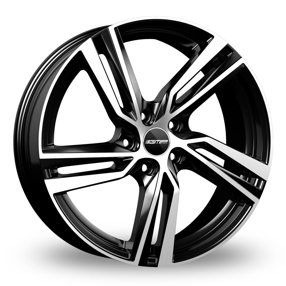 GMP ITALIA ARCAN BLACK POLISHED ALLOY WHEELS