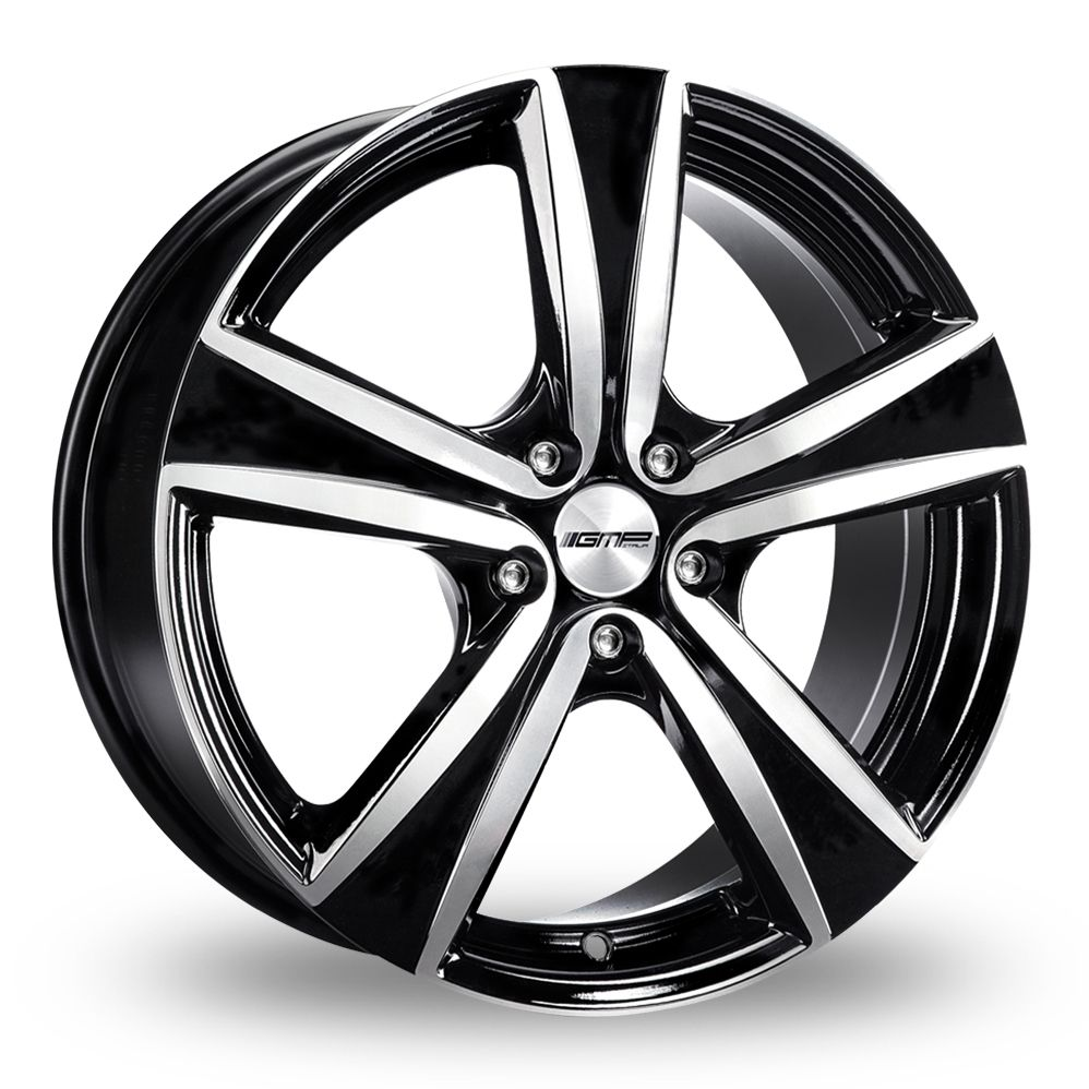 GMP ITALIA ARGON BLACK POLISHED ALLOY WHEELS