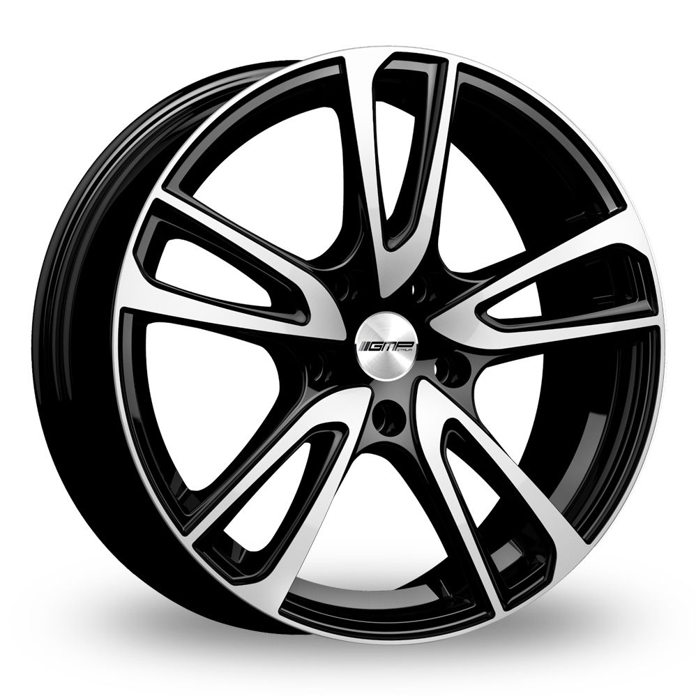 GMP ITALIA ASTRAL BLACK POLISHED ALLOY WHEELS
