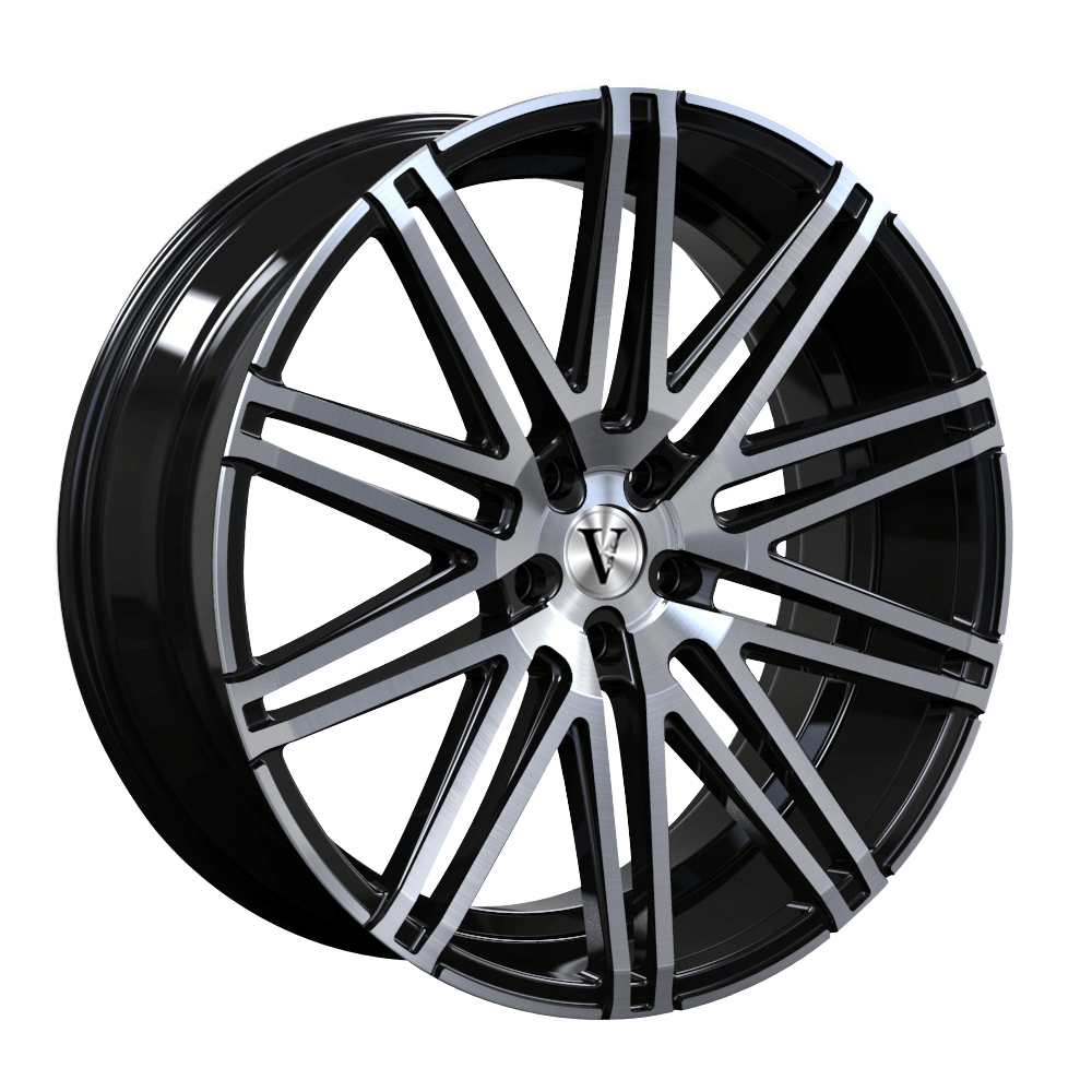 22″ DaVinci Ghost Wheels Black Polished