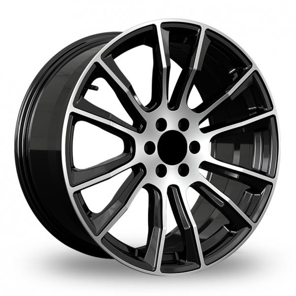 Hawke Denali Black Polished Alloy Wheel