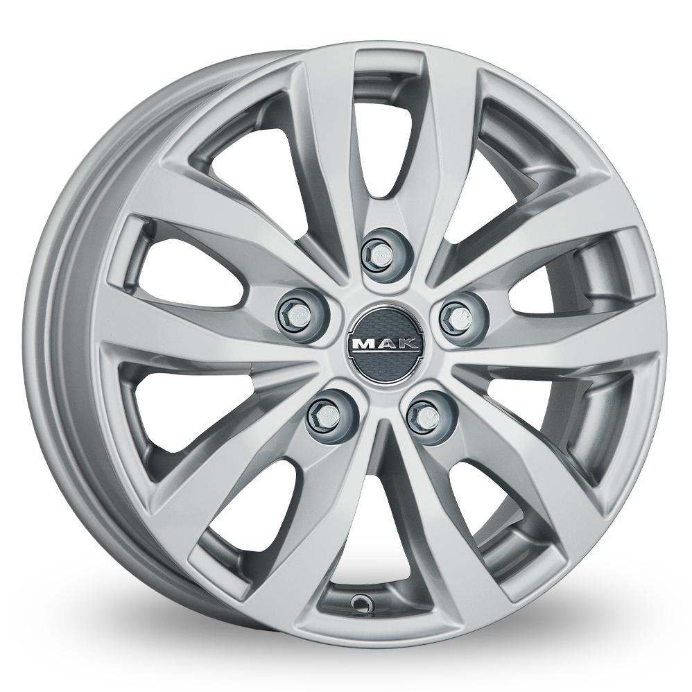 16″ MAK Load 5 Silver For Ford Transit Custom