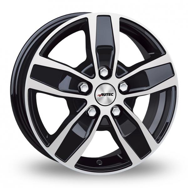 17″ Autec Quantro 5 Black Polished For Ford Transit Custom