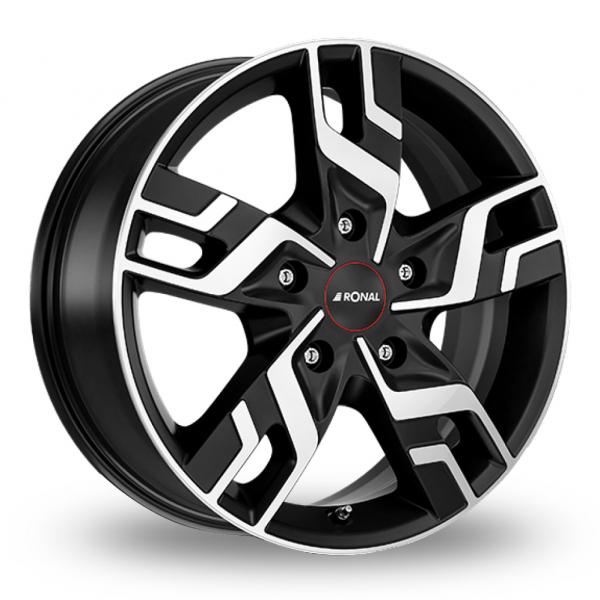17″ Ronal R64 Black Polished For Ford Transit Custom
