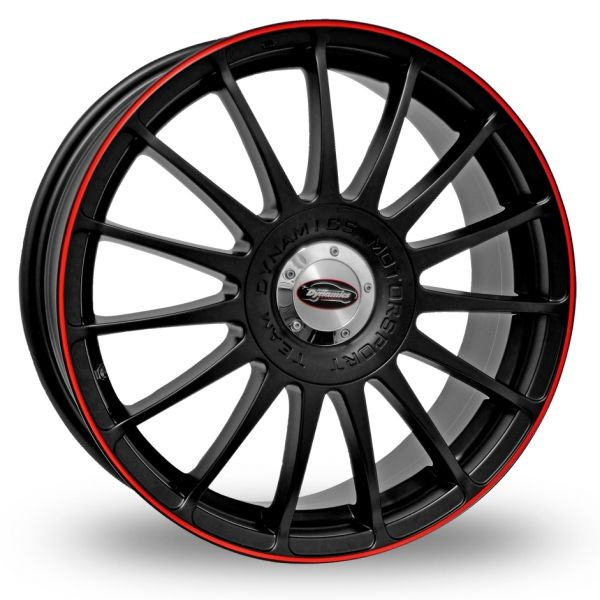 TEAM DYNAMICS MONZA RS BLACK-RED ALLOY WHEELS