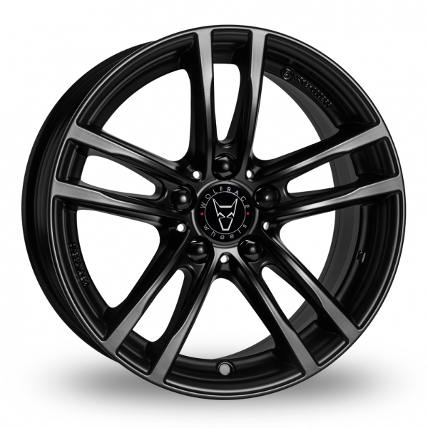 16″ Wolfrace Lucca Gloss Black for Volkswagen Caddy Maxi