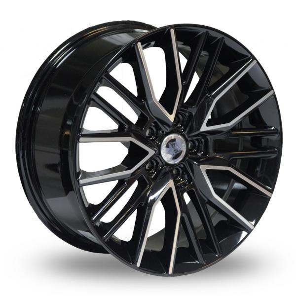 18″ Wolfhart Vortex Black Polished For VW Transporter