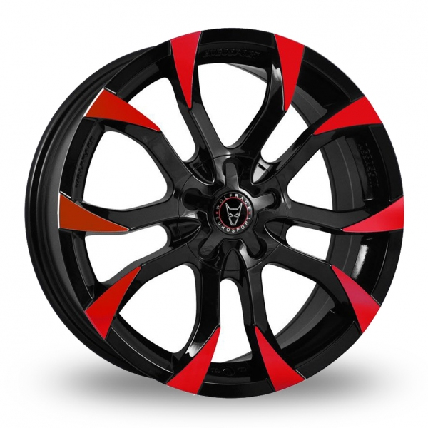 18″ Wolfrace Assassin Black Red for Ford Transit Courier