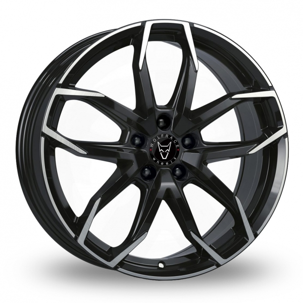 Wolfrace Lucca Gloss Black Polished Face Alloy Wheel