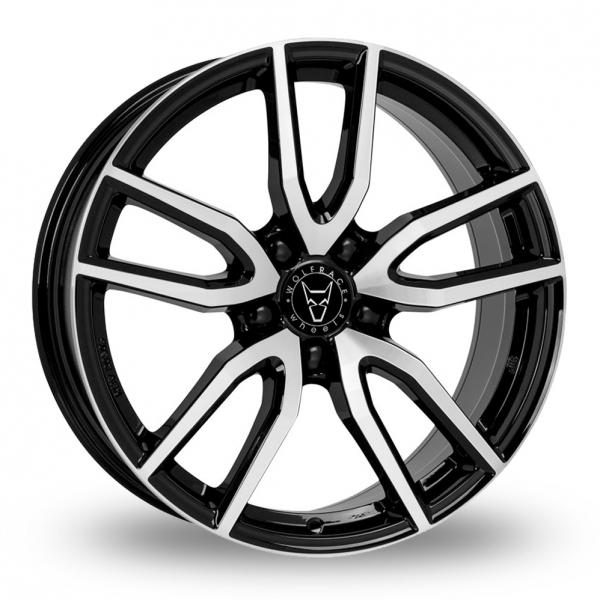 Wolfrace Torino Black Polished Alloy Wheel