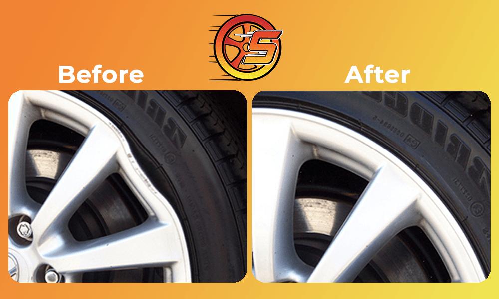 Bent/buckled wheel repair