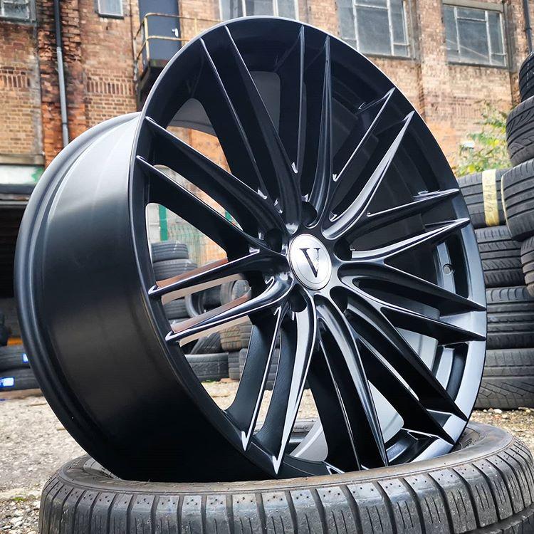 20″ DaVinci Phantom Satin Black for VW Transporter