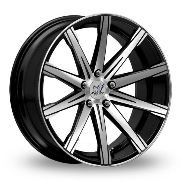 INOVIT REVOLVE BLACK POLISHED ALLOY WHEELS