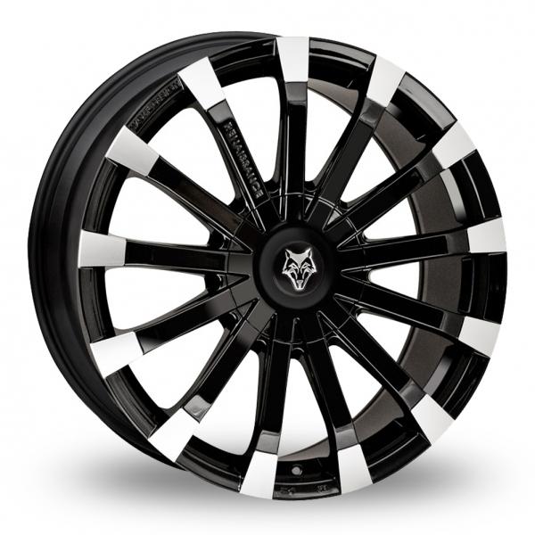 18″ Wolf Design Renaissance Black Polished for Mercedes Vito