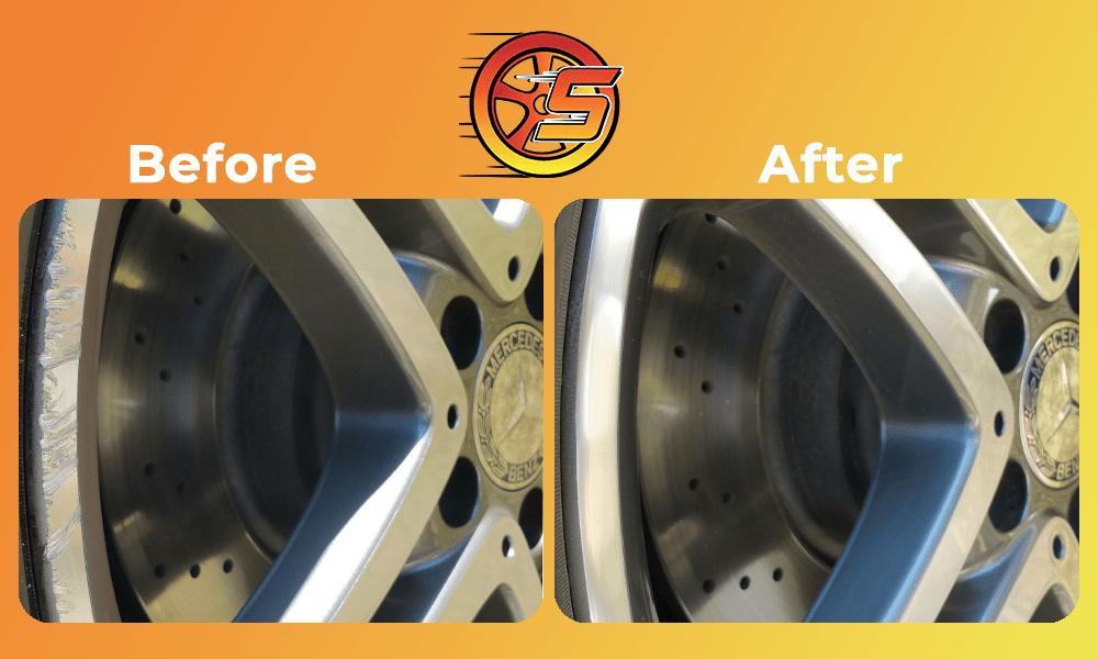 Wheel scratch repairs