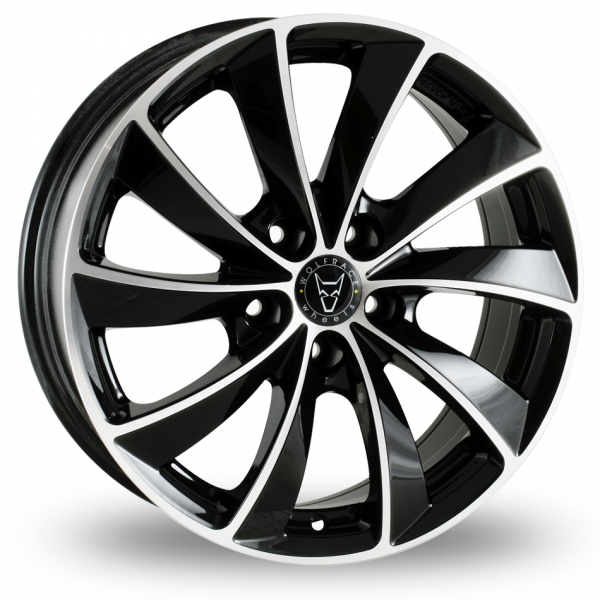 17″ Wolfrace Lugano Black Polished for Ford Transit Connect